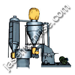 auto suction hammer mill with air classifier