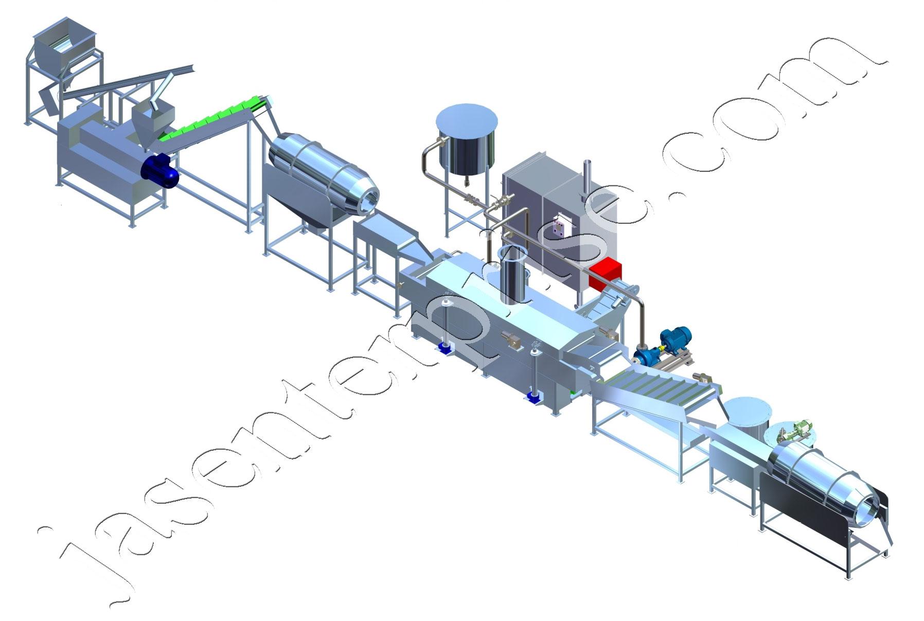 fully automatic kurkure production line conatins Grit ...