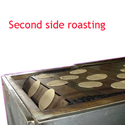 Second side roasting