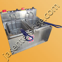 stainless steel twin tank fryer