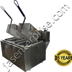 Commercial twin tank deep fat fryer